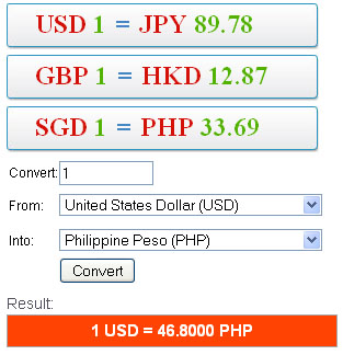 currency converter google